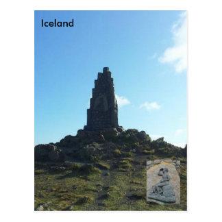 Stephan Stephansson monument at Vatnsskarð Iceland Postcard