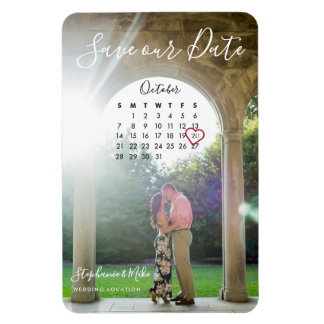 Stephanie & Mike Save the Date Magnet