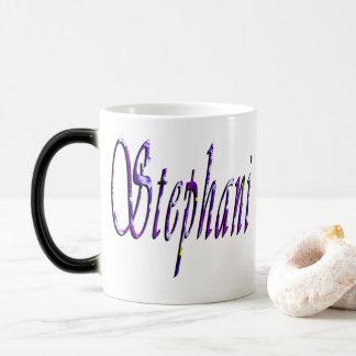 Stephanie, Name Logo, Magic Mug