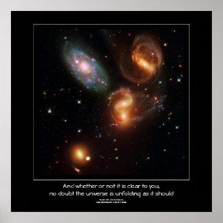 Stephans Quintet deep space star galaxy cluster Print