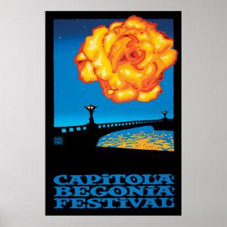 Stephen Hosmer's Capitola Begonia Festival Poster