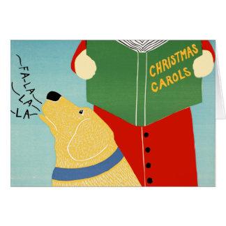 "Stephen Huneck ""Christmas Caroling"" Greeting Card"