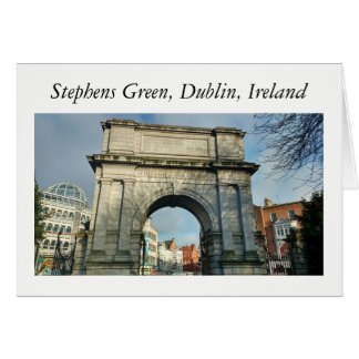 Stephens Green, Dublin, Ireland Card