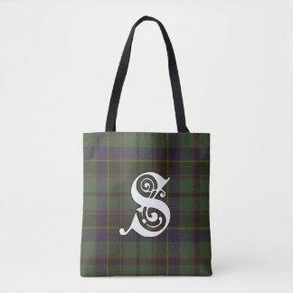 Stephenson Clan Tartan Monogram Tote Bag