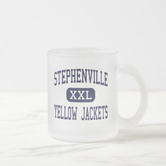 Stephenville - Yellow Jackets - Stephenville Frosted Glass Coffee Mug