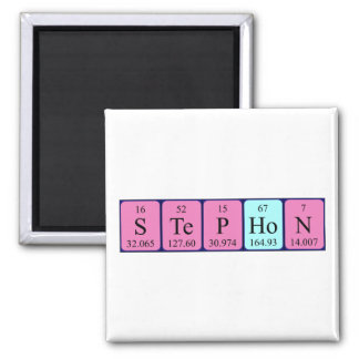 Stephon periodic table name magnet