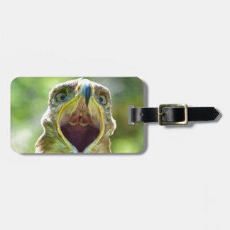 Steppe Eagle Head 001 2.1 Luggage Tag
