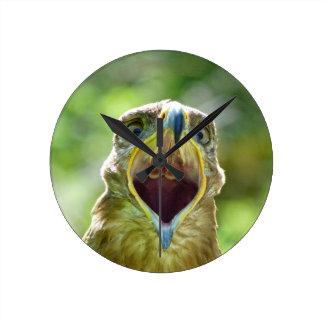 Steppe Eagle Head 001 2.1 Wall Clocks