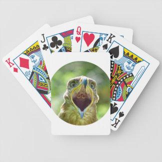 Steppe Eagle Head 004 01rd, screaming Poker Deck