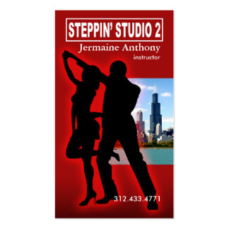 Steppin Chicago Style Urban Dance Instructor Business Card