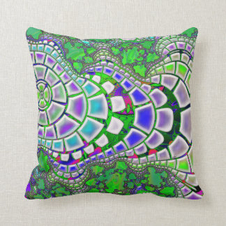 Steppin Stone Psychedelic 3D Abstract Throw Pillow