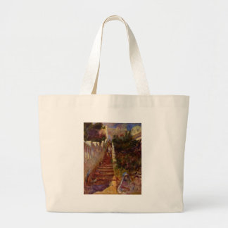 Steps in Algiers by Pierre-Auguste Renoir Jumbo Tote Bag