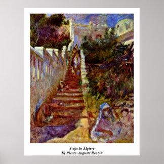 Steps In Algiers. By Pierre-Auguste Renoir Poster