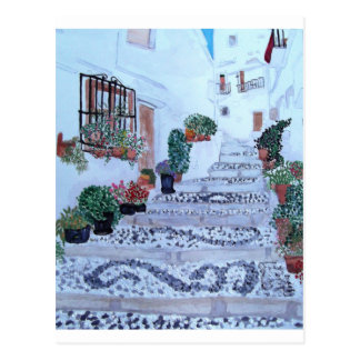Steps In The Old Town Frigiliana Postcard