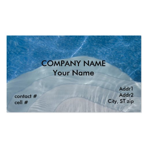 steps into cool blue pool business card