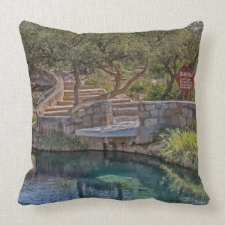 Steps Leading to the Blue Hole - Route 66 - Father Throw Pillow