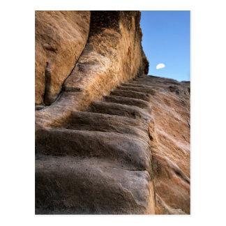 Steps on moon postcard