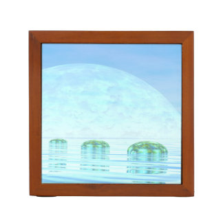Steps on the ocean - 3D render Desk Organizer