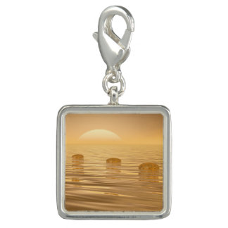 Steps on the ocean - 3D render Photo Charms