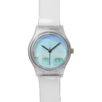 Steps on the ocean - 3D render Watches