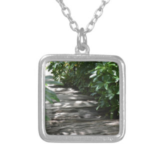Steps Silver Plated Necklace