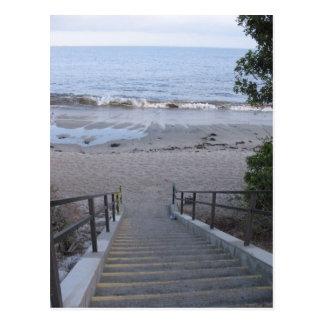 steps to the beach postcard