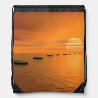 Steps to the sun - 3D render Drawstring Bag