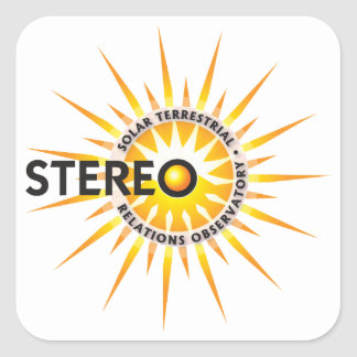 STEREO (Solar TErrestrial RElations Observatory) Square Sticker