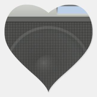 Stereo Speaker Heart Sticker