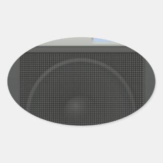 Stereo Speaker Oval Sticker
