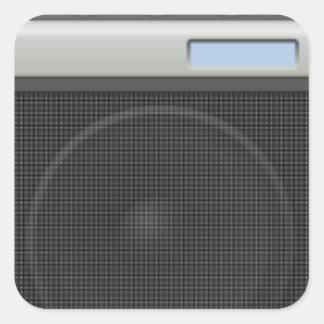 Stereo Speaker Square Sticker
