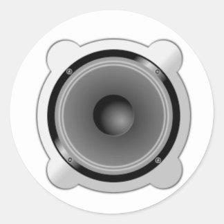 Stereo Speakers Classic Round Sticker