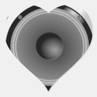 Stereo Speakers Heart Sticker