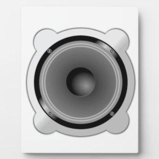Stereo Speakers Plaque