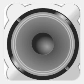 Stereo Speakers Square Sticker