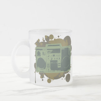 Stereo Style 10 Oz Frosted Glass Coffee Mug
