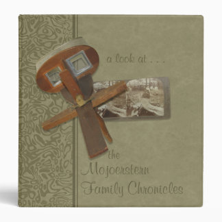 "Stereoscope Family History 1.5"" Binder"