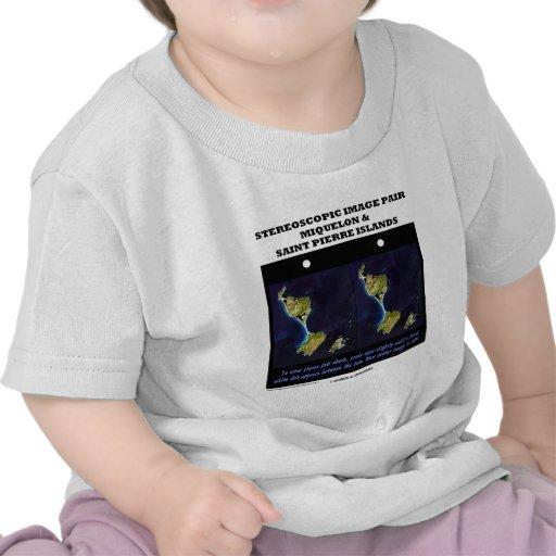Stereoscopic Image Pair Miquelon & Saint Pierre Is Tee Shirt