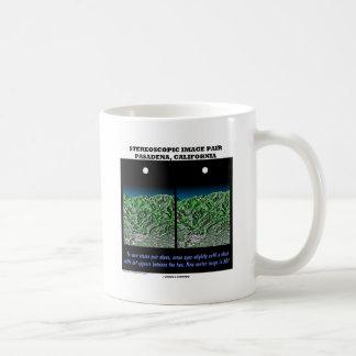 Stereoscopic Image Pair Pasadena, California Classic White Coffee Mug