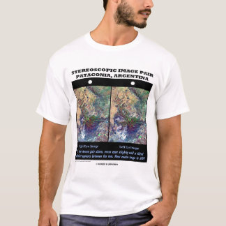 Stereoscopic Image Pair Patagonia Argentina T-Shirt