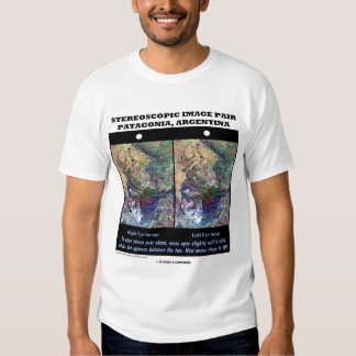 Stereoscopic Image Pair Patagonia Argentina T Shirts