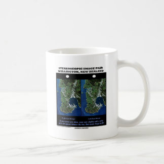 Stereoscopic Image Pair Wellington New Zealand Classic White Coffee Mug