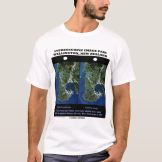 Stereoscopic Image Pair Wellington, New Zealand T-Shirt