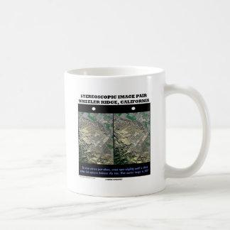 Stereoscopic Image Pair Wheeler Ridge California Classic White Coffee Mug