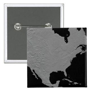 Stereoscopic view of North America 2 2 Inch Square Button