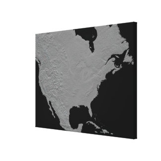 Stereoscopic view of North America 2 Gallery Wrap Canvas