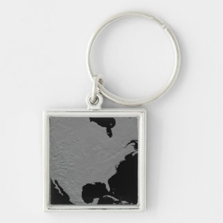 Stereoscopic view of North America 2 Keychains