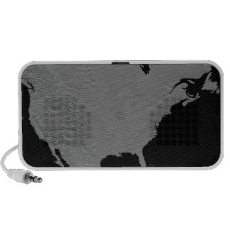 Stereoscopic view of North America 2 iPod Speaker