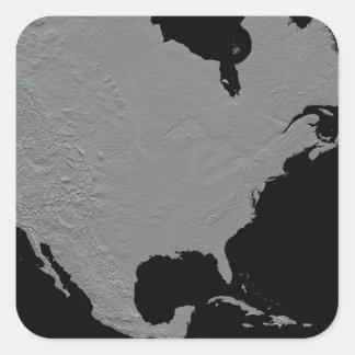 Stereoscopic view of North America 2 Square Sticker