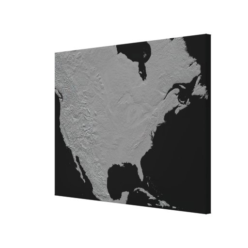 Stereoscopic view of North America Gallery Wrapped Canvas